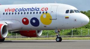 vivacolombia avion turbina