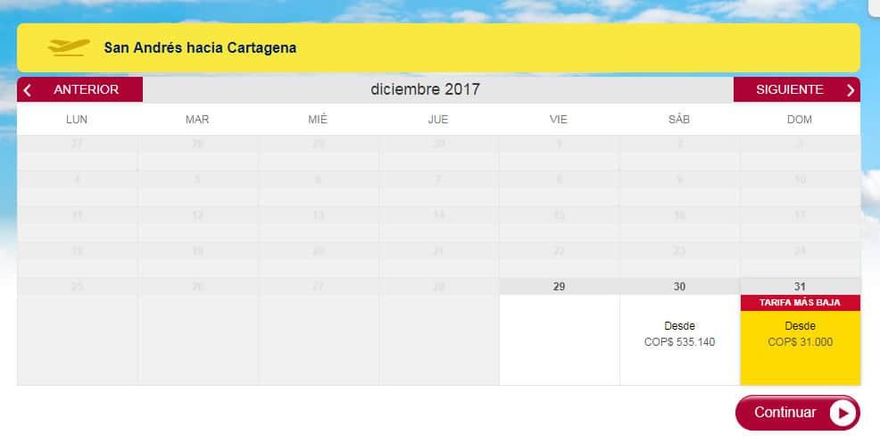 vuelos a cartagena