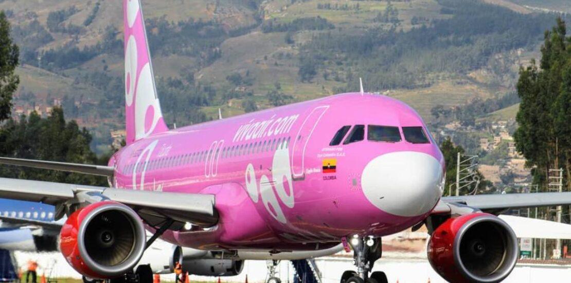avion viva air rosa colombia peru