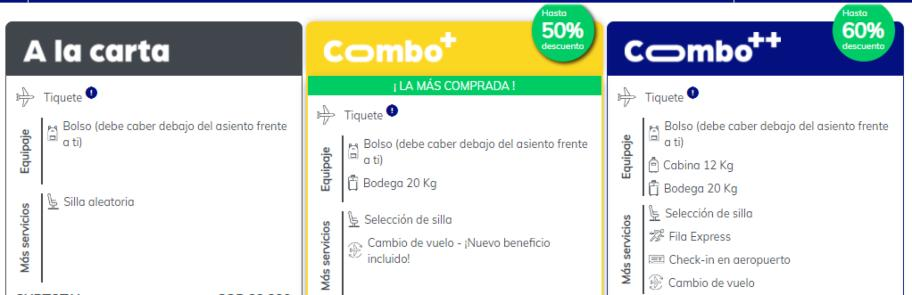 combos viva air colombia